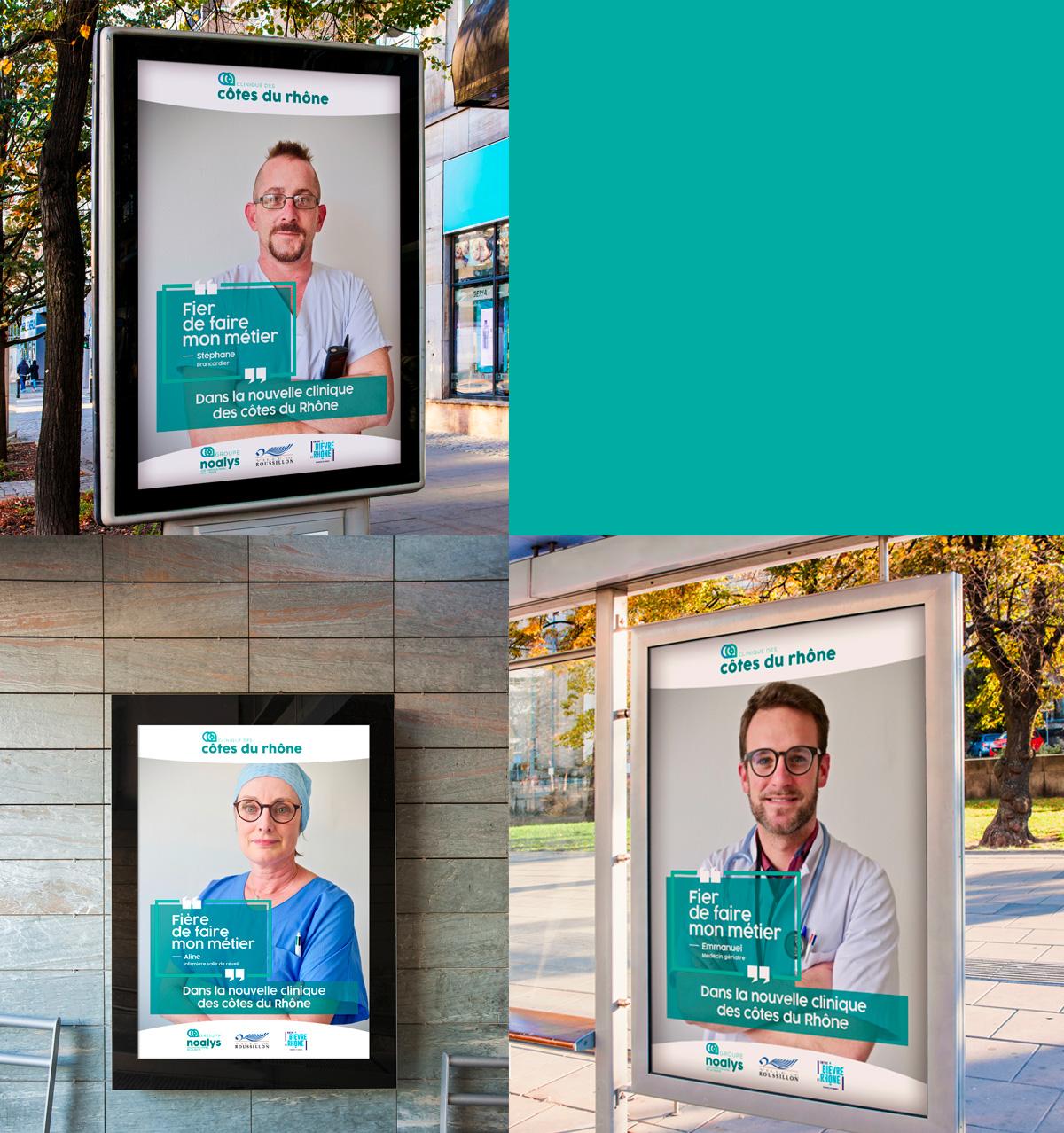 Read more about the article Le personnel de la clinique s'expose dans une campagne d'affichage intitulée «Fier.e. de faire mon métier»